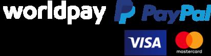 WorldPay and PayPal logos