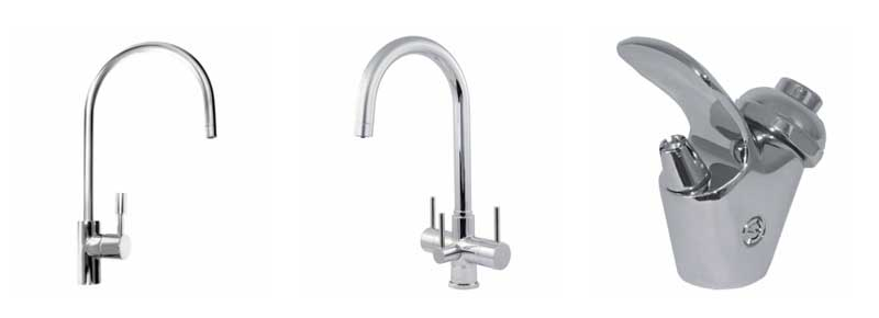 H2O Direct Taps - single, triple and bubbler